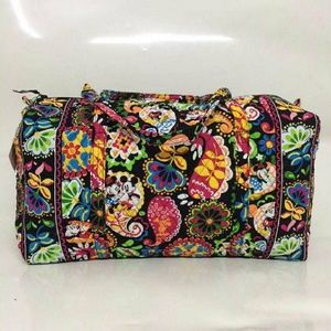 vera bradley large duffel midnight with mickey
